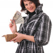 Woman with money — Stock Photo #3937862