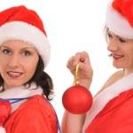 Two santa — Stock Photo