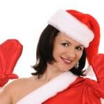 Woman in hat santa — Stock Photo #4253371