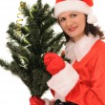 Woman santa — Stock Photo