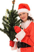 Woman santa — Stock Photo