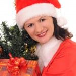 Woman santa — Stock Photo #4280784