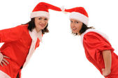 Two women santa — Stock Photo