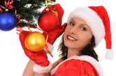 Woman santa — Стоковое фото