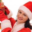 Woman santa — Stock Photo #4323974