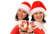 Two woman santa — Stock Photo