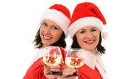 Dvě ženy santa — Stock fotografie