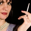 Girl with a cigarette — Stock Photo