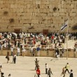 Western Wall during the holiday of Passover in Jerusalem, Israel. - Stock Photo