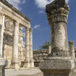 """Jesus Synagogue""  ruins in Capernaum,Israel - Stock Photo"
