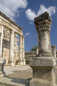 """Jesus Synagogue"" ruins in Capernaum,Israel — Stock Photo"