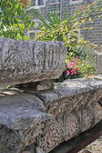 Fragment of romans ruins in Capernaum,Israel — Stockfoto