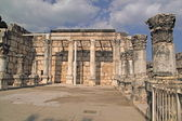 Ruins of ancient Synagogue in Capernaum,Israel — Stock Photo