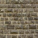fond de mur en pierre de basalte noir — Photo