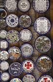 Loja de cerâmica tradicional jerusalems na cidade velha. — Foto Stock