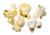 Popcorn, na białym tle — Zdjęcie stockowe