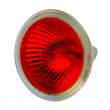 Red halogen electric lamp, isolated — Stock Photo #4593515