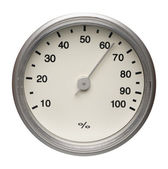 Dial of hygrometer, isolated — Stock Photo