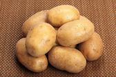 Potatis på en matta — Stockfoto