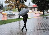 Tarde chuvosa na cidade — Fotografia Stock