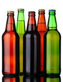 Five bottles of beer — Stock Photo