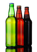 Tree bottles of beer — Stock Photo
