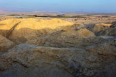 Arava desert in the first rays of the sun — Stock Photo