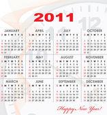 Takvim kılavuzu 2011 yıl — Stok Vektör