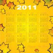 Stock Vector: Calendar grid of 2011 year