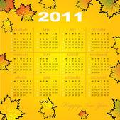 Cuadrícula del calendario del año 2011 — Vector de stock