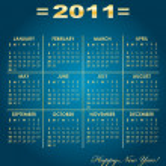 Calendar grid of 2011 year — Stock Vector