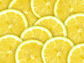 Abstract background with citrus-fruit of lemon slices — Stock Photo