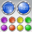 Set of multicolored glasses round buttons — Stock Vector