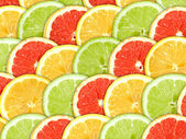 Background with citrus-fruit slices — Stock Photo