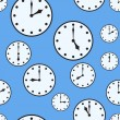 Abstract background with office clocks — Vector de stock