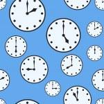 オフィスの時計と抽象的な背景 — ストックベクタ
