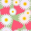 Background with hearts and flowers - Imagens vectoriais em stock