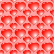Abstract red background with hearts — Stock Vector