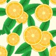 Abstract background with citrus-fruit - Stock Vector