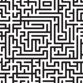 Black-and-white abstract background with complex maze — Stock Vector