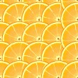 Abstract background with citrus-fruit of orange slices — Stock Vector