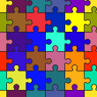 Motley abstract background with puzzle — Image vectorielle