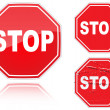 Set of variants a Stop road sign - 
