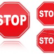 Set of variants a Stop road sign - Stock Vector