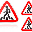 Approaching unregulated pedestrian crossing - Stock Vector