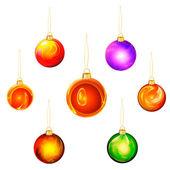 Set christmas ball — Stock Photo