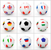 Set soccer ball — Stock Photo
