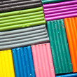 Set colorful plasticine — Stockfoto