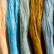 Background from colorful threads — Stock Photo