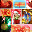 Collage on a Christmas theme — Stock Photo